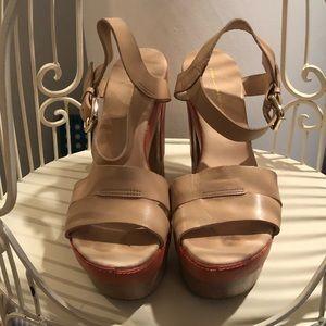Diane Von Furstenberg Tan Platform Sandals